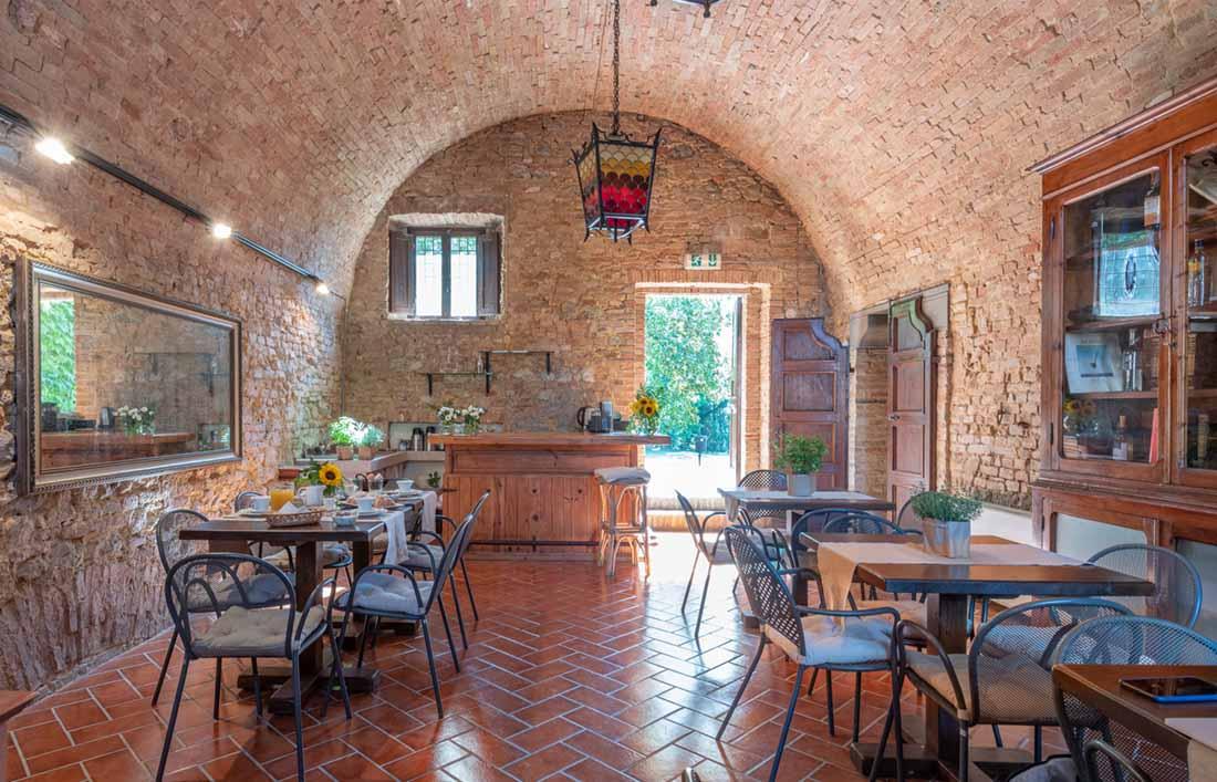 sala interna San Lorenzo a Linari resort