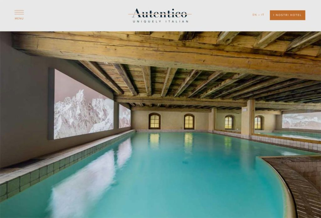 hospitality Autentico Hotels home page